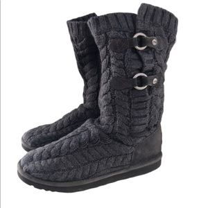 Tularosa Route Cable 3177 Knit Ugg Boots - Gray